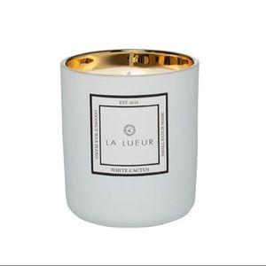 La Lueur White Cactus Coconut Wax Candle Hand Pour
